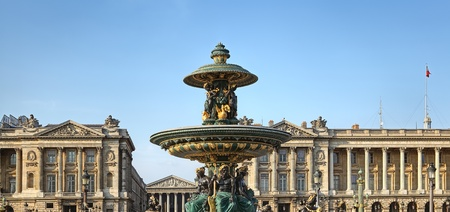 Fountain at Place de la concorde, Paris photo