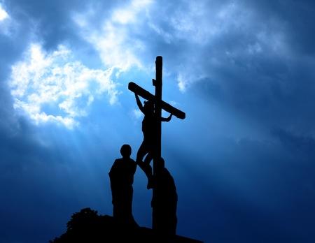 cruz de jesus: Jesucristo Foto de archivo
