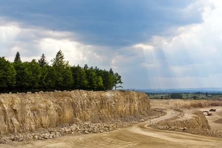 dolomite: Dolomite Mines Stock Photo