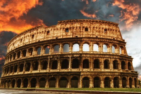 romano: Coliseo, Roma