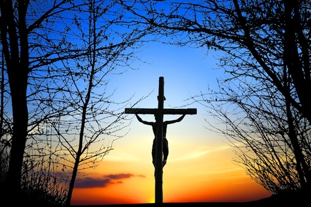 jesus on cross: Santa Cruz
