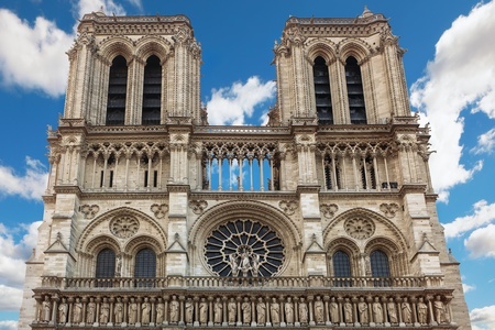 notre: Notre Dame Cathedral in Paris Stock Photo