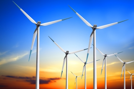 sustainable energy: Wind turbine