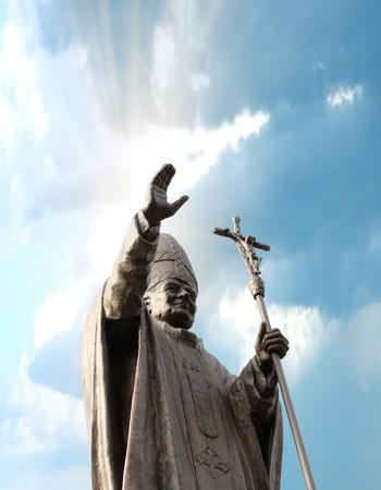 john: Statue of Pope John Paul II
