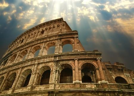 romano: Gran Coliseo de Roma Foto de archivo