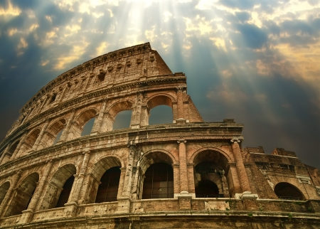 roman: Great Colosseum in Rome Stock Photo