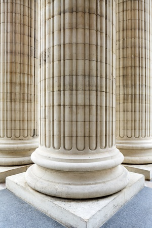 Columns at the entrance photo
