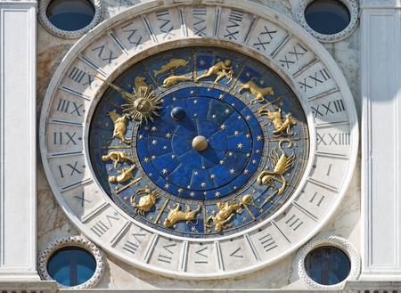 Astronomical clock in Venice Stock Photo