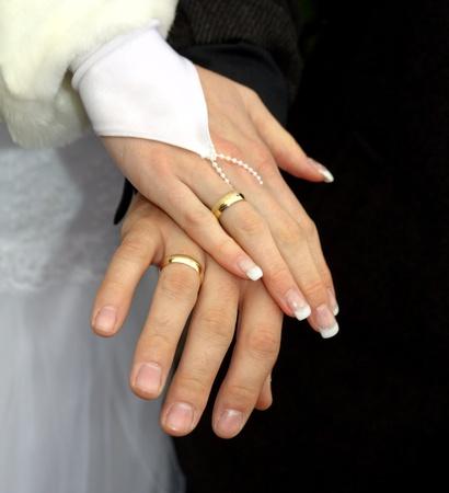 wed: Weddings hands Stock Photo
