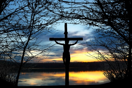 crucifix: Holy cross Stock Photo