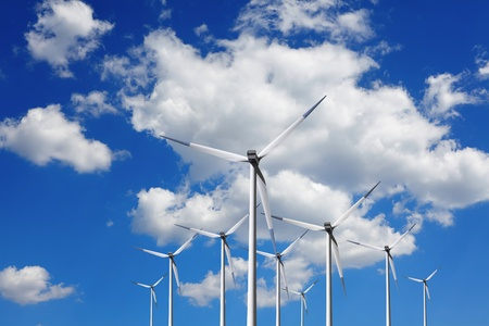 Turbine at blue sky Stock Photo - 11572066