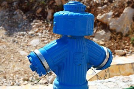 endangerment: Fire blue hydrant