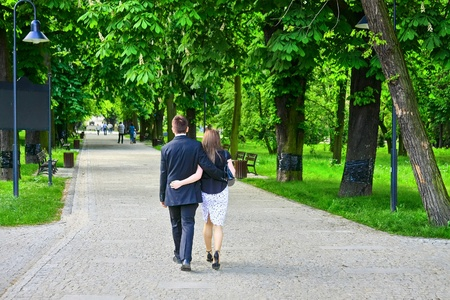 Couple in the park photo