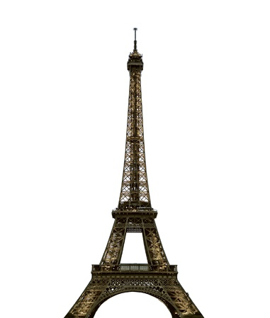 edifice: Paris Eiffel Tower Stock Photo