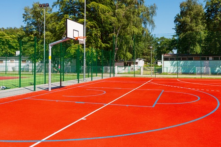 outdoor fitness: Basketball court