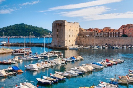 Dubrovnik harbor, Croatia photo