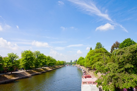 ouse: River Ouse in York - UK Stock Photo