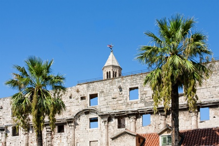 Diocletian palace ruins in Split photo