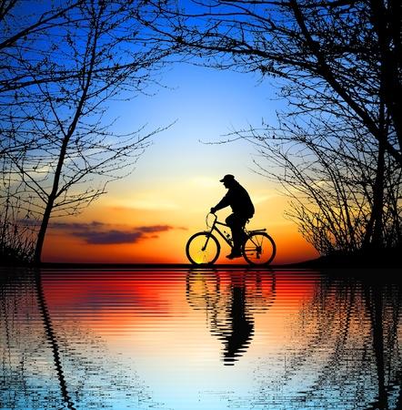 silueta ciclista: Vida Activa