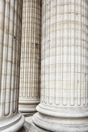strong base: Classic columns Stock Photo