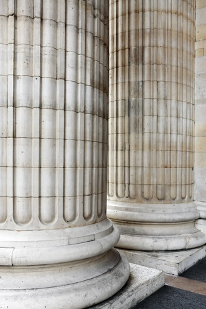 strong base: Classic columns background Stock Photo