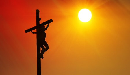 The Crucifixion of Jesus  Stock Photo