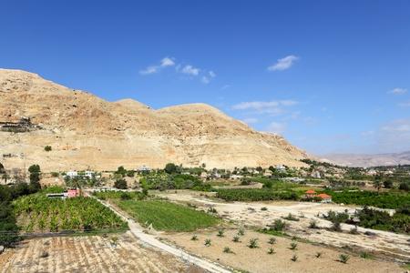 palestinian: Mount of Temptation in Jericho Stock Photo