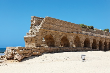 Aqueduct of Caesarea Stock Photo - 13414931