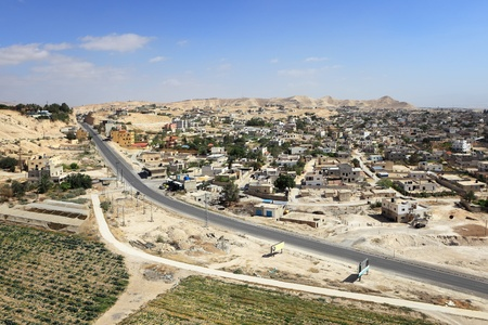 monastery nature: Aerial View of Jericho