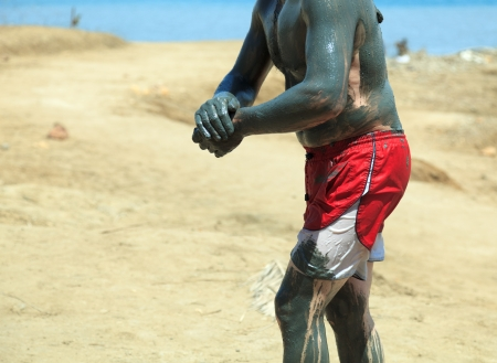 Natural mineral mud sourced from the dead sea Stock Photo - 13720422
