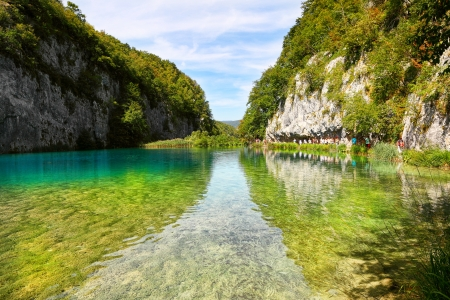 plitvice: Landscapes from the Plitvice natural Park in Croatia Stock Photo