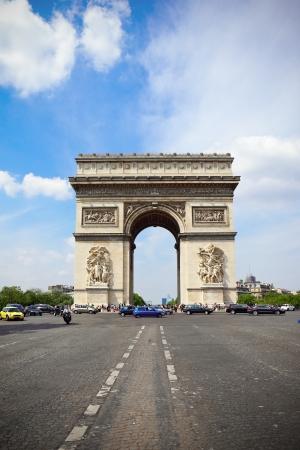 triumphe: Arc de Triomphe in Paris