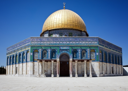 Golden dome of Jerusalem photo