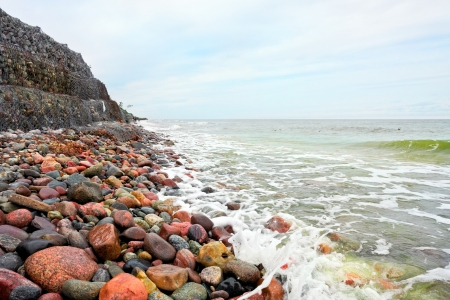 Stones on the beach photo