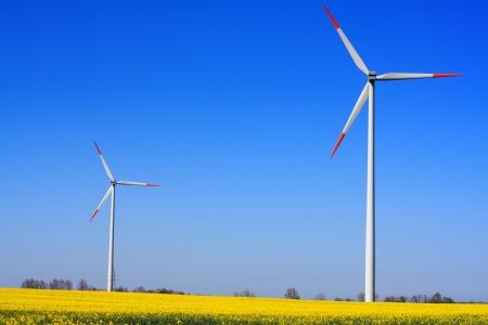 Wind power on blue sky Stock Photo - 14442251