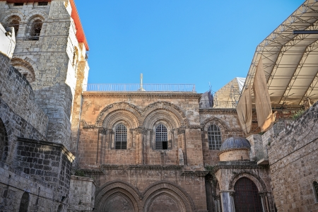 Facade of the Church of the Holy Sepulchre in Jerusalem Stock Photo - 14670382