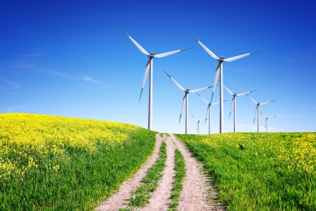 desarrollo sustentable: Energía Limpia Foto de archivo