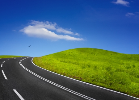 Summer empty road