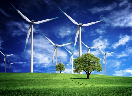 green fuel: Energy Inventions Stock Photo