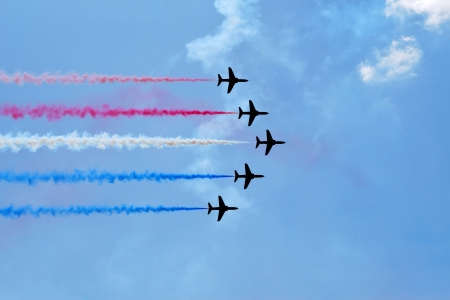 aerobatic: Aerobatic team at airshow
