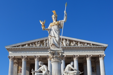 Athena in front of the Austrian Parliament in Vienna Stock Photo - 15799600