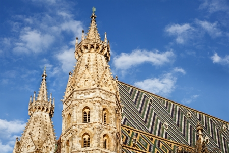 catholical: Cathedral in Vienna Austria Stock Photo