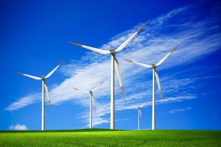 風力発電所 写真素材