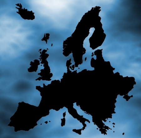 bounds: Europe map  Stock Photo