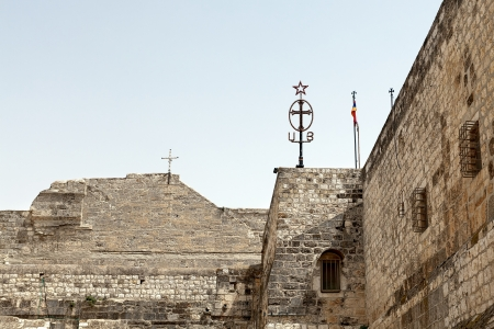 The walls of the Basilica of Nativity in Bethlehem Stock Photo - 16269054