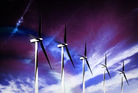 Wind turbines farm Stock Photo - 16682887