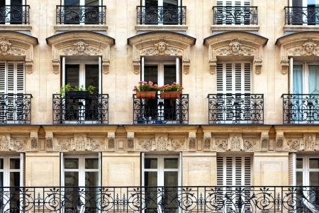 パリのバルコニー 写真素材
