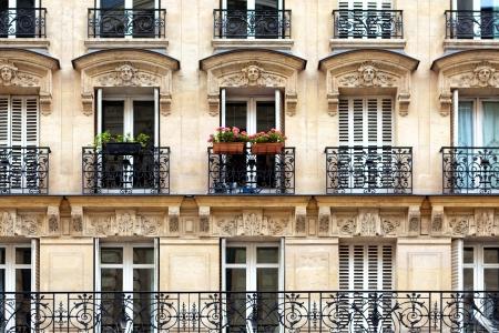 Parijse balkons Stockfoto