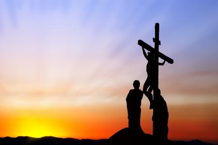 viernes santo: Crucifixión de Jesús Foto de archivo