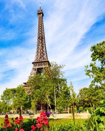 eifel: Spring Eiffel Tower Stock Photo